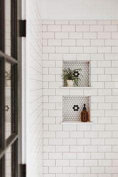 In This Charming Fixer Upper, a West Elm Dresser Doubles as a Bathroom Vanity SOdomino white room wall floor tile flooring brick West Elm Dresser, 1800s Home, Sweet Home, Bathroom Renos, Bathroom Ideas, Brick Bathroom, Bathroom Organization, Modern Bathroom, White Bathroom