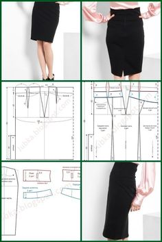 "Skirt ""pencil"" with a high belt"