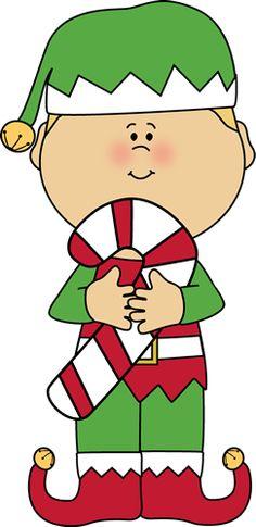 Elf Clip Art and Christmas Bulletin Board Idea