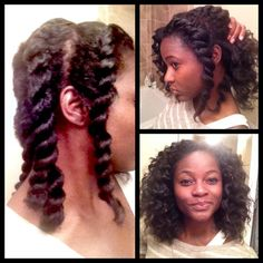Chunky Flat Twist Out - http://www.blackhairinformation.com/community/hairstyle-gallery/natural-hairstyles/chunky-flat-twist/ #curlyhair #twistout