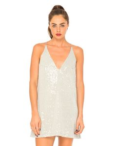 Motel Aurora Sequin Slip Dress in Grey, TopShop, ASOS, House of Fraser, Nasty gal