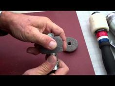 Making a leather edge burnishing tool.