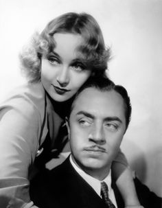 """Carole Lombard and William Powell in promo still for """"My Man Godfrey"""" 1936"""