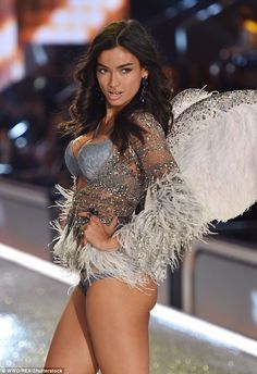 Kelly Gale stuns in angelic-style winged costume as leggy model struts down the catwalk at Victoria's Secret Fashion Show in Paris | Daily Mail Online