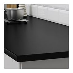 EKBACKEN Måttbeställd bänkskiva, svart laminat - svart laminat - 63.6-125x2.8 cm - IKEA