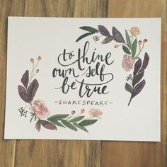To Thine Own Self Be True print by YouDollDesign on Etsy
