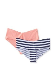 33% OFF TART Collections Women's Set Sail 2-Pack Laser Cut Panty (Blue/White/Rose)