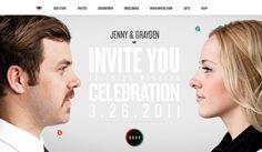 iPad wedding invite - yes please! (Wedding Site by Grayden Poper, via Behance)