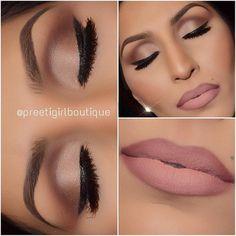 Matte Nude MOTD by @preetigirlboutique I #motd #inspiration #pampadour #eotd #makeup #lips #matte