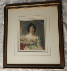Vtg EDMUND WARBLE Artist Signed Framed Print Young Victorian Lady LIMITED PROOF Vintage Art Prints, Framed Prints, Victorian, Signs, Lady, Artist, Decor, Decorating, Novelty Signs