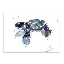 'Babe Sea Turtle' by Suren Nersisyan Painting Print