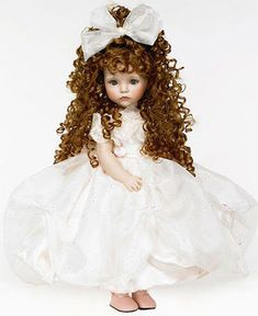 Jacqueline by Linda Rick, The Doll Maker. Beautiful Collectible Porcelain Doll, LE She is tall. Victorian Dolls, Antique Dolls, Vintage Dolls, Pretty Dolls, Cute Dolls, Beautiful Dolls, Glass Dolls, Dolly Doll, Realistic Dolls