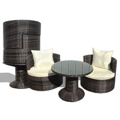 Found it at Wayfair - Geo Vino 3 Piece Seating Group with Cushions