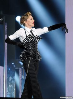Cone bra, making a comeback?Madonna, singing Vogue, with a recent interpretation of her famous bra by Jean Paul Gaultier