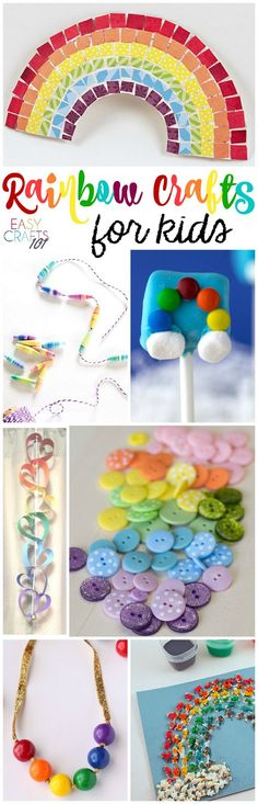 Easy Rainbow Crafts for Kids - these cute rainbow crafts are SO fun!