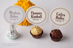 Place Cards - Etsy - Unique Wedding Reception Ferrero Rocher by DesignsByDirection
