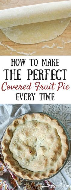 Making a beautiful, flakey pie crust is easy with these tips and tricks. Visit the Butter For All blog to get the all the tips and a wonderful old-fashioned lard pie crust recipe.