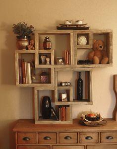 multiple interlocking shelves