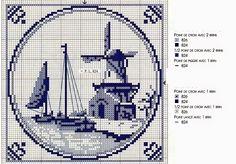 Schemi a punto croce gratuiti per tutti: Tanti schemi a punto croce in blu Delft