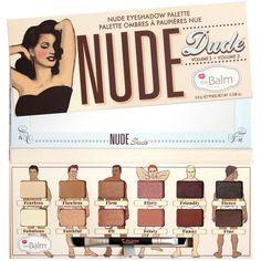 Palette Nude Dude the Balm une nouvelle palette de fards neutres au packaging très provocant ! Associe 12 fards aux tons neutres, rosés, pêche et prune