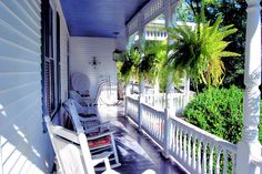 Welcome to the porch at the Claiborne House Bed and Breakfast