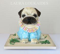 Paulo The Pug - Cake by Laura Loukaides Pug Birthday Cake, Birthday Sheet Cakes, Birthday Stuff, Puppy Dog Cakes, Cake Designs For Kids, Pug Cake, Paw Patrol Cake, Fondant Animals, Rolling Fondant