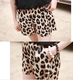 Cute Leopard Shorts!! This Website Has Tons Of Cute Clothes!!
