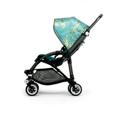 Bugaboo Bee3 Van Gogh. Coated green chassis, petrol blue seat fabric and the beautiful Van Gogh sun canopy. For those's that want a touch of class! #Ababycomau #BugabooBee3VanGogh