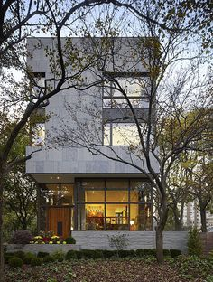 The Lake Shore Drive House in Chicago, Illinois, designed by Wheeler Kearns Architects.