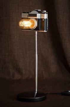 Настольная лампа-фотоаппарат. Ручная работа. Стоимость - 6500 рублей.