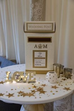 All Decor and Styling provided by Crow Hill Weddings. Fresh Flowers provided by Roxanne at Lily Blossom and Wedding Cake provided by Oliver James Sugarcraft. Gold Stars, Fresh Flowers, Crow, Wedding Cakes, Lily, Place Card Holders, Weddings, Decor, Style