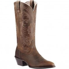 10010970 Ariat Women's Magnolia Western Boots - Distressed Brown www.bootbay.com