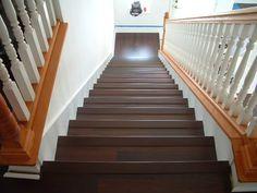 Instalando piso laminado na escada. Faça você mesmo.