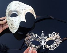 Gold titan homme masquerade masque lustré vénitien masque yeux bal masqué homme