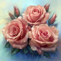 Сочные розы от художника Анны Лакисовой... фото #3