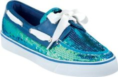 Sperry Women's Bahama Boat Shoe Blue (Iridescent Sequins) Size 8.5 Sperry Top-Sider. $74.95