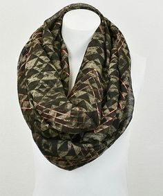 This Mocha & Neon Tribal Infinity Scarf by Leto Collection is perfect! #zulilyfinds