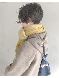ヘアーアンドアトリエ マール(Hair&Atelier Marl) 【Marl】ダークグレージュの刈り上げショートスタイル♪