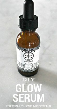 Try this DIY Glow Serum for Wrinkles, Scars and Uneven Skin - made using essential oils. It's a great natural remedy that actually works!