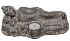 Boeddha ligged  met waxinelichtje