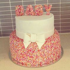 I love this sprinkle cake for a baby shower or welcome baby party!