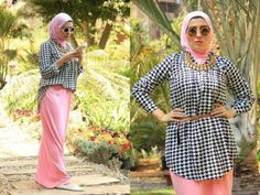 Pink maxi skirt hijab outfit-Everyday hijab outfits – Just Trendy Girls