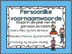 Afrikaans Language, 1st Grade Worksheets, School Posters, School Readiness, School Fun, Kids Education, School Projects, Kids Learning, Lesson Plans