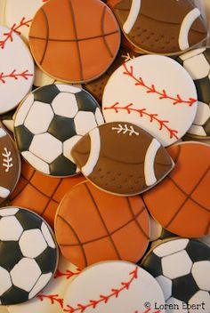 Sports Balls Cookies by Loren Ebert  www.thebakingsheet.blogspot.com  The Baking Sheet