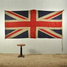 Large Vintage Union Jack Flag Accessories Original House