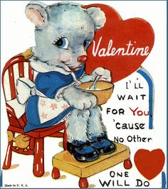 Happy Valentine's day! What better way to say I love you than with vintage cards? (vintage cards, funny valentine cards)