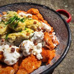 Magyar Nemzeti Nokedli Favorite Recipes, Chicken, Meat, Food, Haus, Beef, Meals, Yemek, Cubs