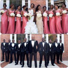 Beautiful bridal party ! Repost @laydeedanna #nigerianwedding #NWbridalparty #wedding #bridesmaids #groomsmen #nigerianweddingpictures