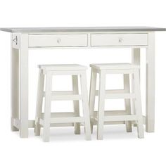 COUNTER-HEIGHT TABLE & STOOLS, WHITE - Google Search