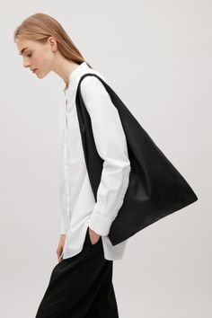 COS image 2 of Unstructured shopper bag in Black
